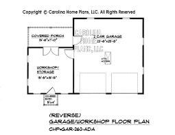 garage floor plan country style garage workshop plan gar 262 ad sq ft small budget