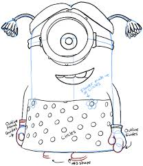 draw stuart minion dressed despicable