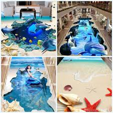 3d dimensional wallpaper self adhesive waterproof floor painting 3d dimensional wallpaper self adhesive waterproof floor painting wall paper starfish dolphin stickers mermaid wallpapers for home 30jy cr house wall