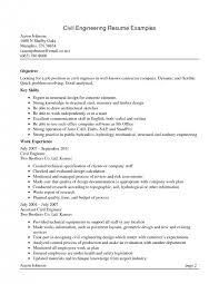 resume civil engineer resume example