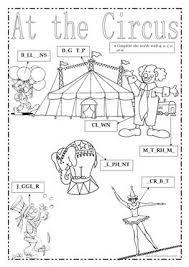 36 free esl circus worksheets