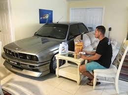 in livingroom florida brings bmw into living room for hurricane matthew ny