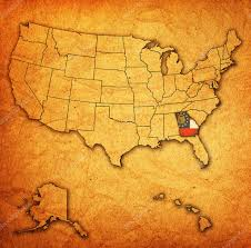 Georgia Map Usa by Georgia On Map Of Usa U2014 Stock Photo Michal812 30953935