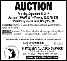 b patient auction service marquette mi