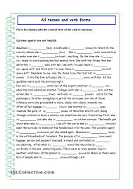 all tenses all verb forms esl worksheets of the day pinterest