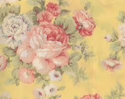 Fabric Shabby Chic by Rose Fabric Etsy