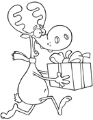 christmas reindeer coloring free printable coloring pages