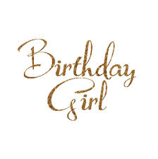 girl birthday birthday girl decal birthday girl iron on letters gold