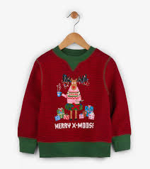 merry x moose sweater blue house