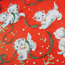 cat christmas wrapping paper 35 best mr kitten images on cats kittens