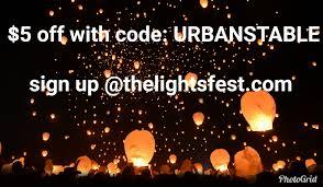 lights fest promo code urban stable is charity partner at the lights fest event winnipeg