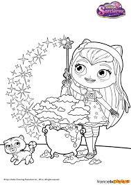 Les coloriages de MiniSorcières  Zouzous dessins animés pour les