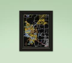 Boulder Colorado Map Boulder Colorado Neon Map Neon Maps