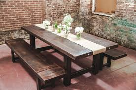 dining room rustic benches for dining table with distressed