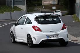 opel corsa opc white spied feisty 2014 opel corsa opc facelift sports a new nose job