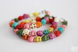 skull bracelet bead images Colorful skull bracelets easy diy jewelry tutorial jpg