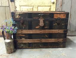 antique steamer trunk manufactured for r h macy unique coffee