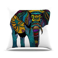 decor taylon linens cotton elephant pillow for living room