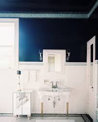 Blue And Brown Bathroom Decor Navy Blue Bathroom Accessories Dark Gray Tile Accent Wall