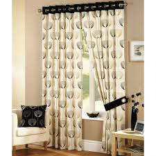trump drapes curtain curtain black and cream window curtains with tieback of