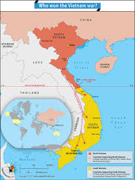 World Map Vietnam by Vietnam War Was Between North U0026 South Vietnam Supported By Major
