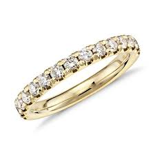 yellow gold diamond rings scalloped pavé diamond ring in 18k yellow gold 1 2 ct tw