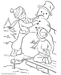 winter coloring pages january sledding 07