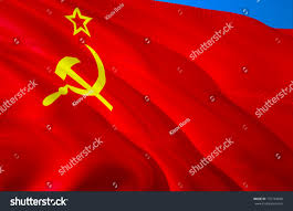 Red Flags Ussr Flag 3d Waving Flag Design Stock Illustration 731734648