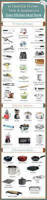 ustensiles de cuisine liste 45 essential kitchen tools every kitchen must http amzn to