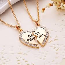 necklace best friend images Diamond bff best friends friendship heart pendant necklaces jpg