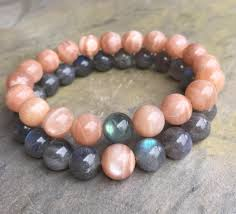elastic bead bracelet images 2018 10mm natural sunstone beads bracelet 10mm natural labradorite jpg