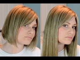 hair extensions for bob haircuts clip extensions in short blunt hair youtube