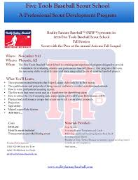 baseball scouting report template mlb scout school