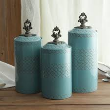 celtic blue kitchen canisters set brendans saint irish containers