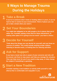 things you need for a new house safe horizon 5 ways to manage trauma during the holidays