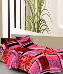 Double Cot Bed Sheets Online India Home Elite Printed Cotton Double Bedsheet With 2 Pillow Covers
