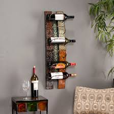 furniture black floating wall mounted wine racks with white paint