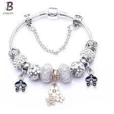 fine charm bracelet images Baopon high quality vintage silver plated crystal fine bracelet jpg