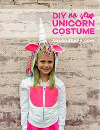 Halloween Unicorn Diy No Sew Unicorn Halloween Costume Taz And Belly