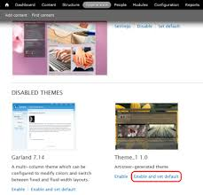 how to use drupal themes