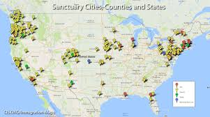 Map Of United States East Coast by Maps Sanctuary Cities Counties And States Center For