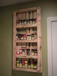 my spice rack made from pallets palletable designs pinterest