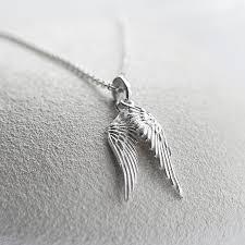 jewelry wings necklace images Silver angel wing necklace martha jackson jewellery jpg