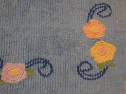 vintage chenille rug vintage blue chenille rug with pink