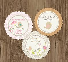 bird baby shower bird cupcake toppers bird baby shower party rounds favor