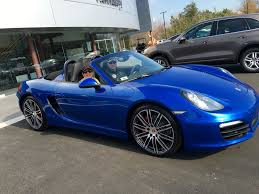 blue porsche boxster just ordered 2016 boxster s in sapphire blue 6speedonline