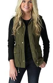 Womens Military Vest Womens Olive Green Vest Oasis Amor Fashion