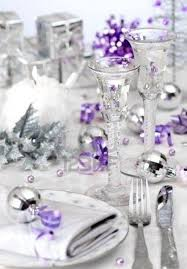 Christmas Table Decorations Blue And Silver by