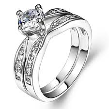 sterling silver wedding gifts 2018 size 4 11 sterling silver wedding engagement ring two in one