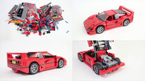 lego ferrari watch a lego ferrari f40 built in time lapse fuelgarden